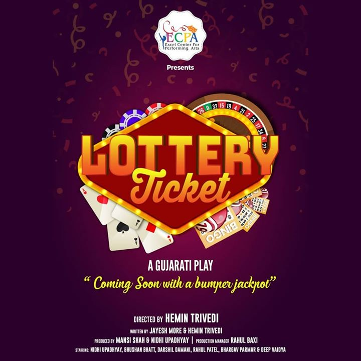 Excel Center for Performing Arts (ECPA) Presents Lottery Ticket. An amazing play written by @thejayeshmore & @hemin_hht143 Directed by @hemin_hht143  Watch me perform in this play soon. The show details and tickets will be out soon.  Get ready for a Laughter Jackpot!