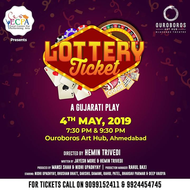 Tickets are now available!!! Book your seats now!!! Limited seats available in both the shows. #lotteryticket #drama #theatre #theater #ahmedabad #ouroboros