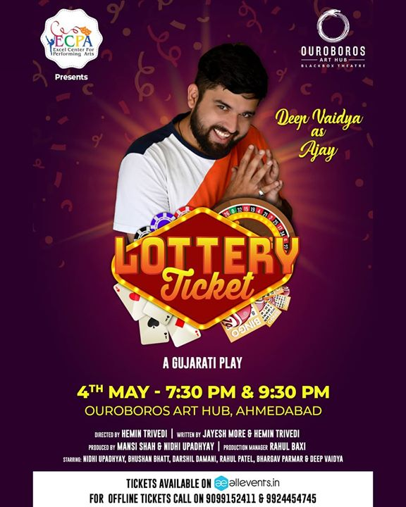 AHMEDABAD!!! 4th May, at @oah.abad , two back to back shows, tickets available on @allevents.in  . . Link In Bio . . #ahmedabad #nautanki #drama #theatre #play #gujaratiplay #nautankideep #lotteryticket