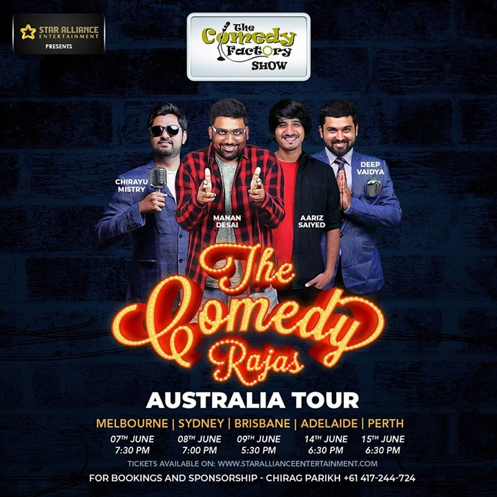 AUSTRALIA!!! Do Tag Your Gujju Friends And Relatives In The Comment Section Below. Tickets Are Up On The Comedy Factory's Website!!! www.thecomedyfactory.in @ Australia