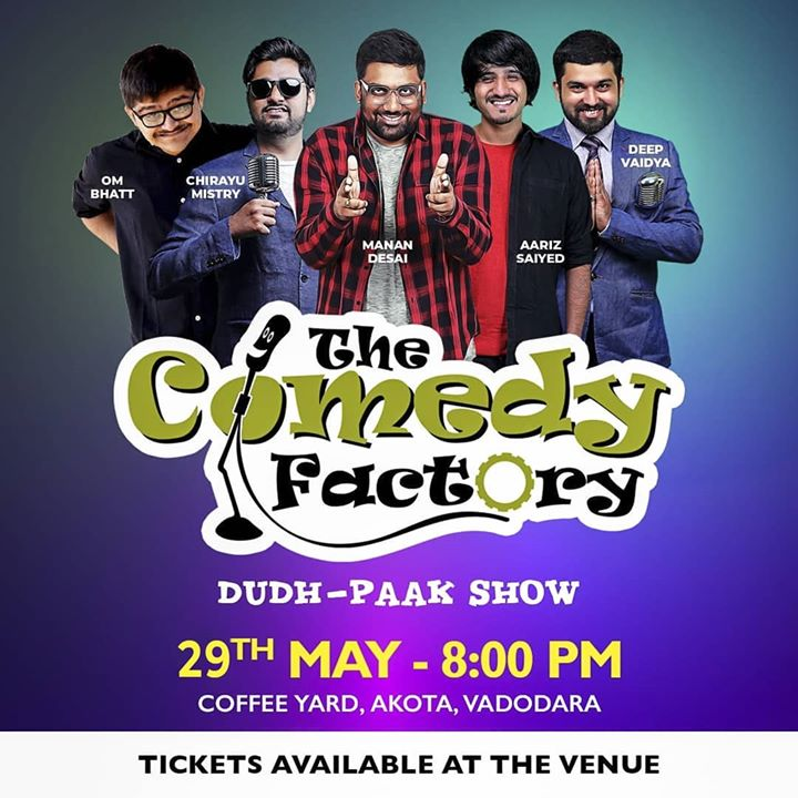 Vadodara! Book Your Seats NOW! We have limited seats for this show.