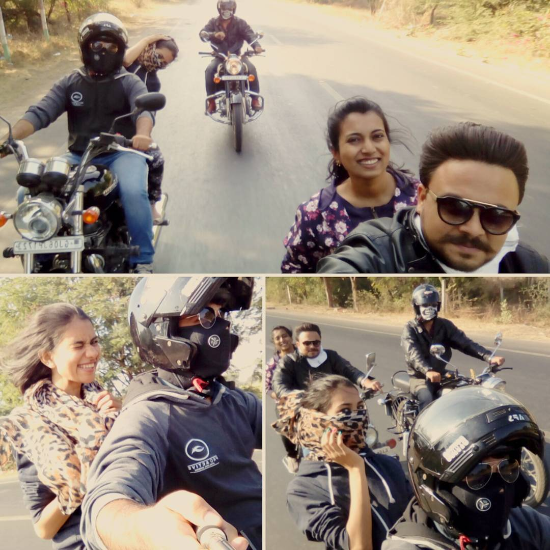 A ride with old frnds, new frnds, my love my bike and a chaai aur kya chahiye zindagi mein ... #ThunderDairies #RoyalEnfield #RoyalThunder #champaner #pavagadh