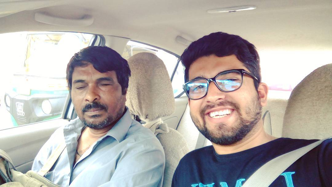 So today in the morning I went to the railway station to drop my aunt and while returning back home I tried to do something good. I met this guy from #ahmedabad who is blind and came #vadodara to receive #holi greetings and gifts from a NGO in fatehgunj and this was the conversation... Me: kya mein aapko fatehgunj chodd du? He: ok. Saffron tower pe chodd dena. Me: seat belt pehen lijiye. He: Are Haan police wala Andha nahi hai (followed by a small laughter) Me: (Shocked & joined him in his laughter) ... So aap kaha se hai aur kya karte hai??? He: Ahmedabad se hu aur bacho ko singing sikhata hu. Me: badhiya ... He: (started singing the #jabrafan song from the radio) Me: ( Shocked & joined him in the main lines of the song and truly