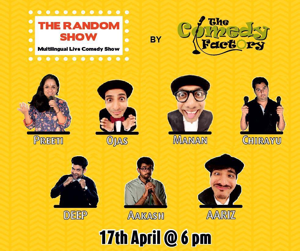 @thecomedyfactoryindia is performing on 17th April ... Tickets available on BookMyShow...
