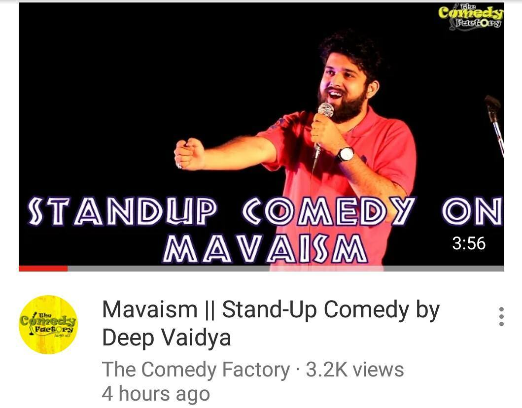 Hey guys!!! My first Stand Up Comedy Video is up on @thecomedyfactoryindia's YouTube Channel. Watch it!!! Like it!!! Share it!!! And subscribe to our YouTube Channel  #nautanki #standup #comedy #standupcomedy #thecomedyfactory #tcf #gujju #mavaism #mava