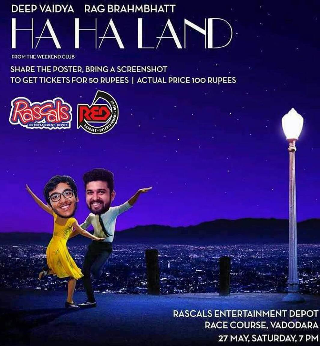Oscar Unnominated Movie 'Ha Ha Land' will performed live tonight. I am the lead