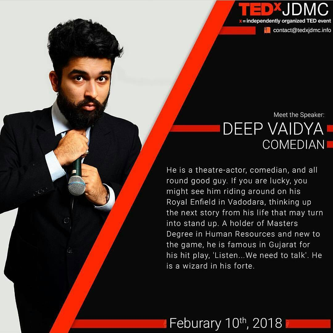 Great start to 2018 ... Life ka pehla TEDx Talk dene wala hoon... Thanks @tedxjdmc for giving this opportunity... #nautanki #tedx #tedxtalk #2018 #2k18 #delhi #tedxjdmc
