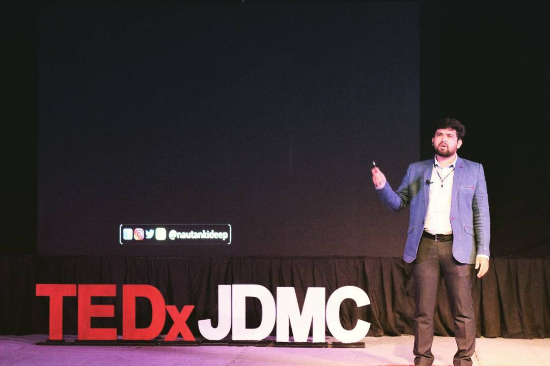 It was an awesome experience at @tedxjdmc . It was my first ever such talk and I would like to thank @ananyamalhotraa @divya_dhingra06 & the whole team of TEDx JDMC for giving me this opportunity.  #nautanki #tedx #tedxjdmc #delhi #jdmc #tedxtalk #tedxtalks