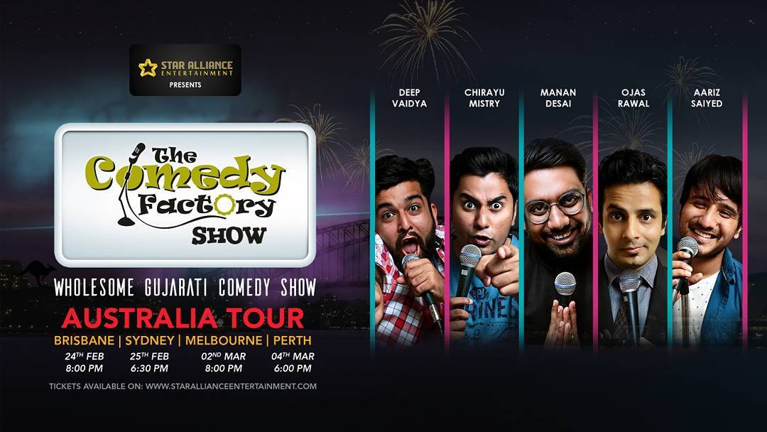 One Week To Go!!! Australia be ready for a laughter riot by @thecomedyfactoryindia team. | 24th Feb Brisbane | 25th Feb Sydney | 2nd March Melbourne | 4th March Perth |  Tickets Up On Star Alliance's Website.  #nautanki #saturdaynight #Australia #standup #comedy #standupcomedy #standupcomedian #comedian #comic #sydney #brisbane #perth #melbourne #gujjus