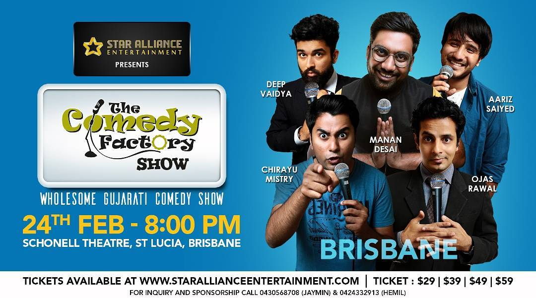 First Show Of Australia Tonight!!! We are Super Excited And Filled With Energy For The Whole Tour. Do Inform Your Family And Friends Here In Australia.  #nautanki #tcf #thecomedyfactory #tcfaustralia #brisbane #letsdothis  #standupcomedy #standup #comedy #comic #standupaustralia #gujju #gujjus