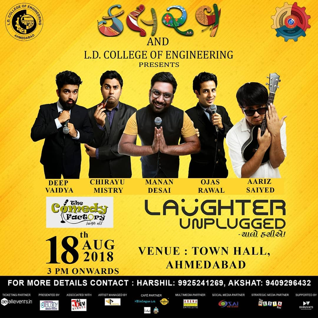 Performing in Ahmedabad on 18th... Tickets up on Allevents.in