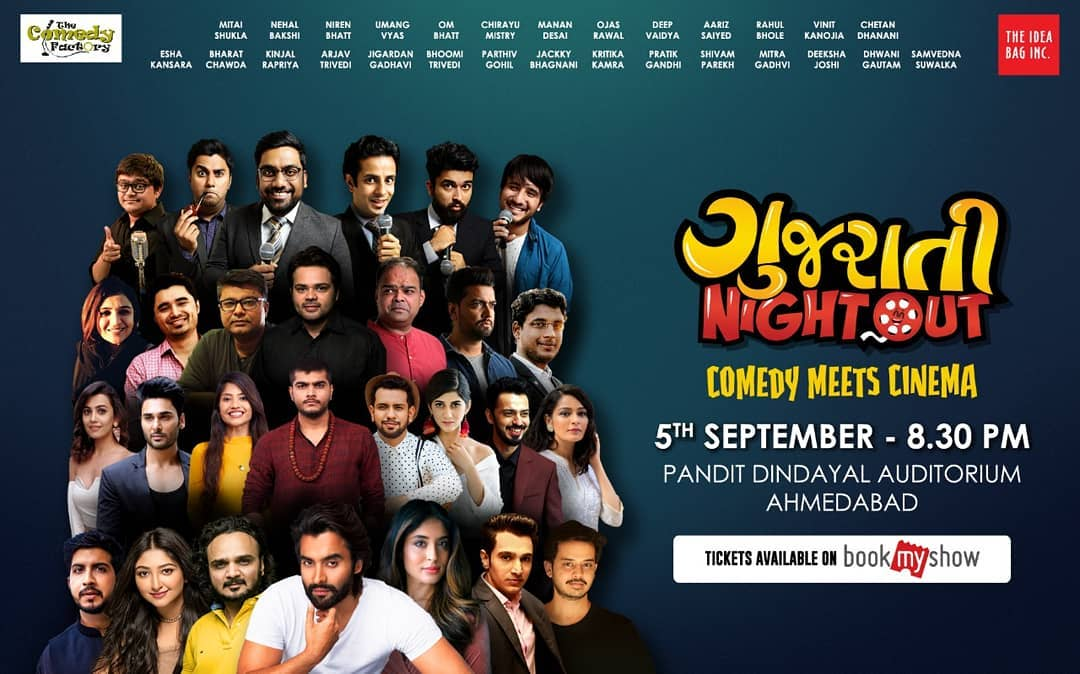 Gujarati NightOut A Show With The Biggest LineUp Of Artists... Tickets Up On BookMyShow Direct Link In My Bio For Your Convenience... . . #nautanki #thecomedyfactory #tcf #gno #gujaratinightout #ahmedabad #gujarati #liveshow #roast