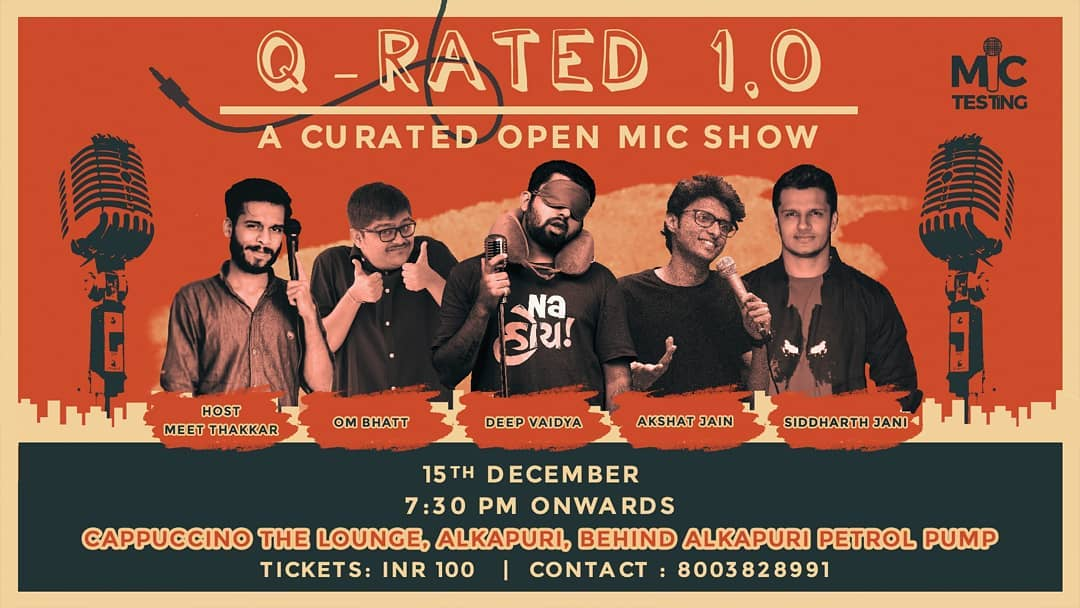 Q-Rated 1.0 a Curated Stand Up Comedy Show. First of its kind in Vadodara. . . #nautankideep #funnyguynextdoor #qrated #standupcomedy #standupshows #standup #comedy #comedian #comic #coffee #cafe