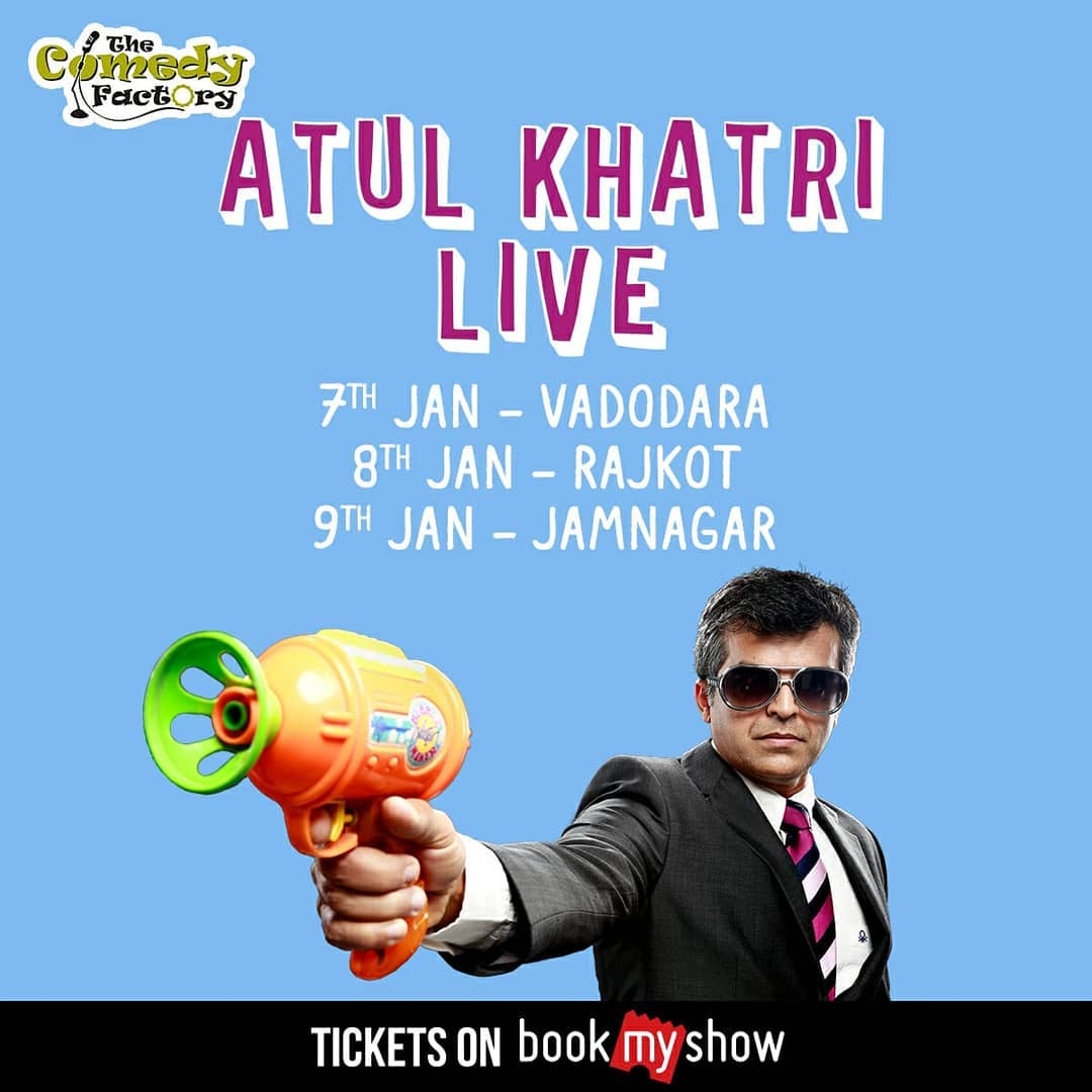 ( @one_by_two ) Atul Khatri is performing in Gujarat. Tickets are up on BookMyShow. . . #tcf #thecomedyfactoryindia #thecomedyfactory #comedy #standupcomedy #standup #standupshows #comedian #comic #vadodara #rajkot #jamnagar
