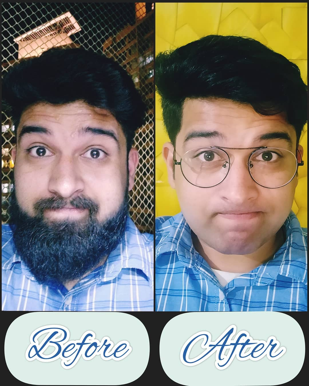 #10yearchallenge completed in just 10 minutes. . . #nautankideep #nautanki #10yearschallenge #beard #cleanshave #beforeandafter #10minutechallenge #beardo
