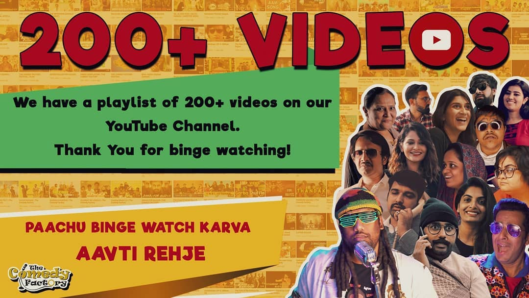 Let's Binge Watch @thecomedyfactoryindia's YouTube Videos this Weekend.