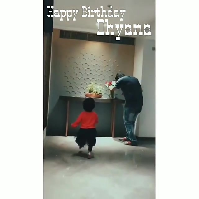 Happy Bday Dhyana  Video Courtesy : @chinmay_fr