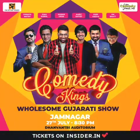 (SOUND ON)  JAMNAGAR! @thecomedyfactoryindia team is performing for the very first time in your beautiful city. To save your time I have kept ticket link in my bio!!!